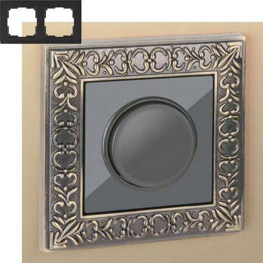 Рамка на 2 поста Werkel WL07-Frame-02 Бронза