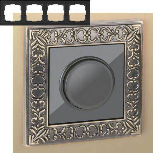 Рамка на 4 поста Werkel WL07-Frame-04 Бронза