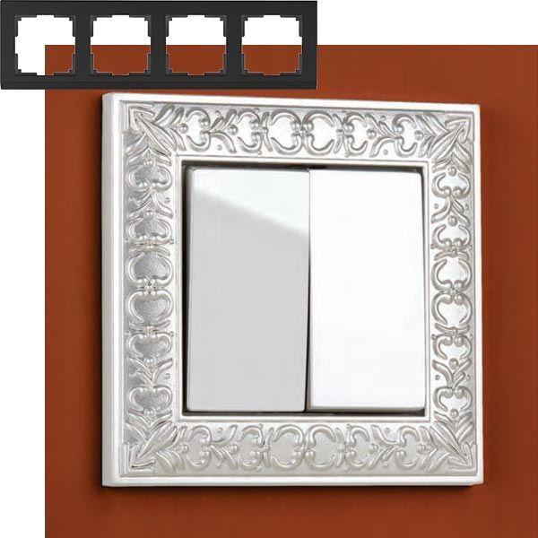 Рамка на 4 поста Werkel WL07-Frame-04 Жемчужный