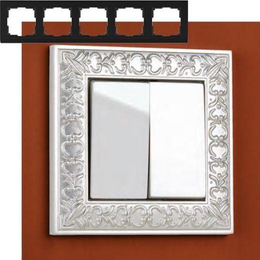 Рамка на 5 постов Werkel WL07-Frame-05 Жемчужный