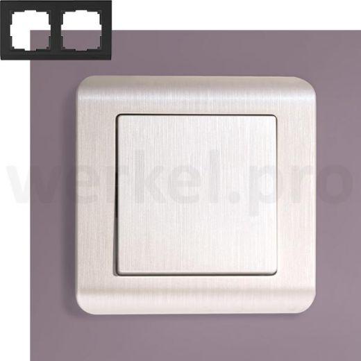 Рамка на 2 поста Werkel WL12-Frame-02 перламутр