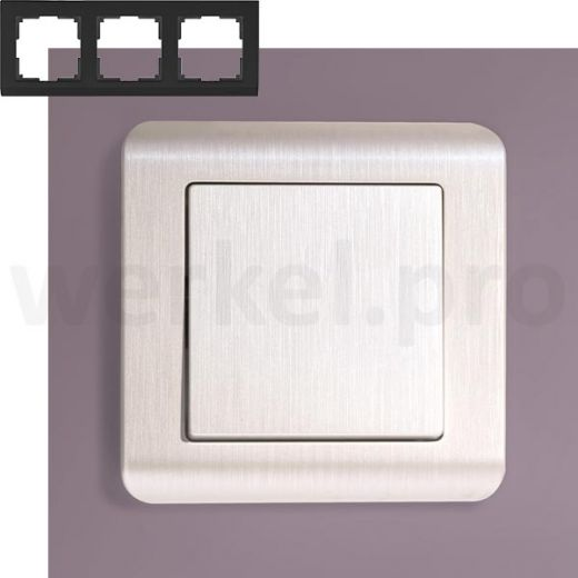 Рамка на 3 поста Werkel WL12-Frame-03 перламутр