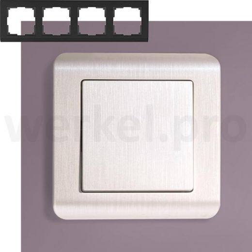 Рамка на 4 поста Werkel WL12-Frame-04 перламутр