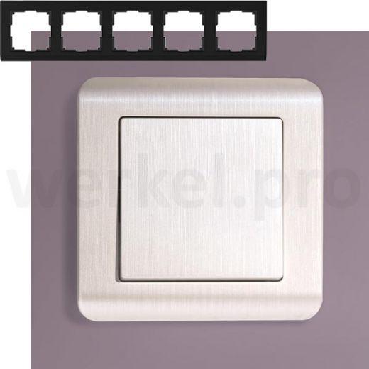 Рамка на 5 постов Werkel WL12-Frame-05 перламутр