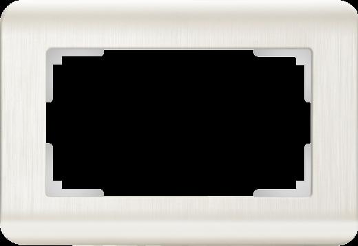 Рамка для двойной розетки Werkel WL12-Frame-01-DBL перламутровый