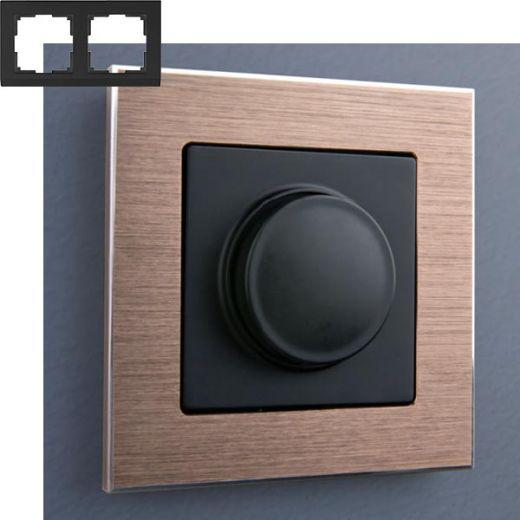 Рамка на 2 поста Werkel WL11-Frame-02 Коричневый алюминий