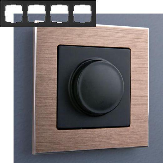 Рамка на 4 поста Werkel WL11-Frame-04 Коричневый алюминий