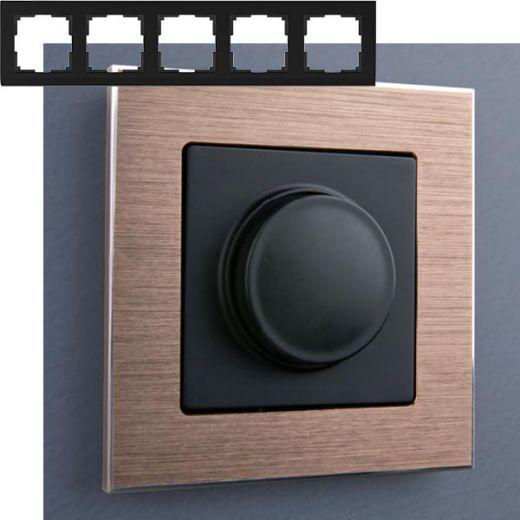 Рамка на 5 постов Werkel WL11-Frame-05 Коричневый алюминий