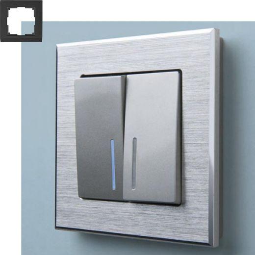 Рамка на 1 пост Werkel WL11-Frame-01 Алюминий