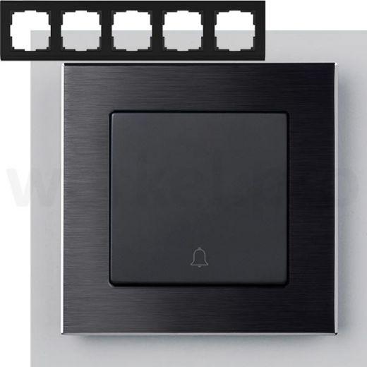 Рамка на 5 постов Werkel WL11-Frame-05 Черный алюминий