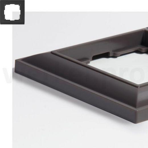 Рамка на 1 пост WL14-Frame-01 серо-коричневый