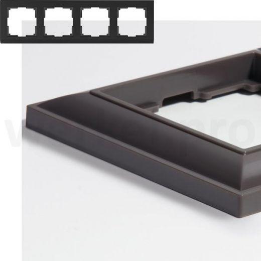 Рамка на 4 пост WL14-Frame-04 серо-коричневый