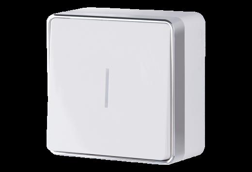 Выключатель одноклавишный с подсветкой WL15-01-04 белый