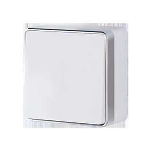 Выключатель одноклавишный проходной WL15-01-03 белый