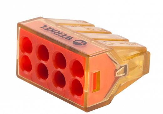 Клемма самозажимная 8-проводная TR-01-08 5шт в упаковке