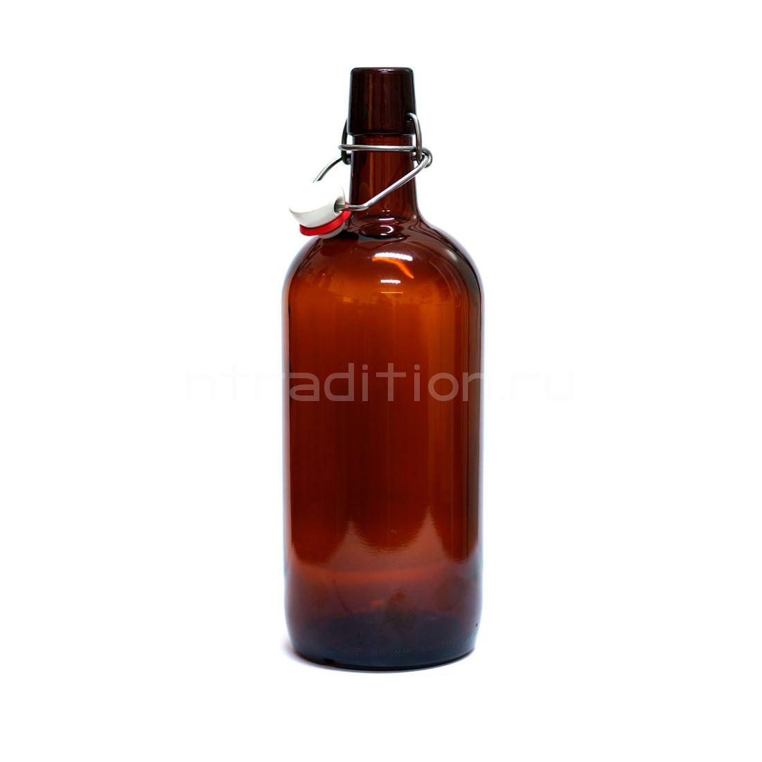 Бутылка бугельная Бомба, 1 л. (темная)