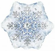 Шар (22''/56 см) Фигура, Снежинка, 1 шт., CTI