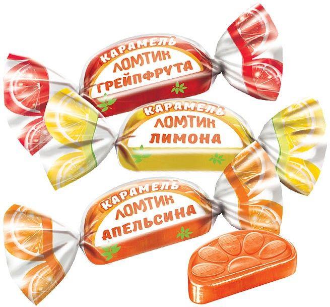 Карамель Ломтик со вкусом апельсина, лимона, грейфрута 1кг  Н.Тагил
