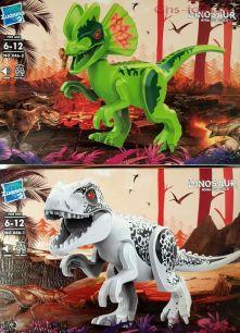 Набор из 2 конструкторов Zuanma Динозавры со звуком 046
