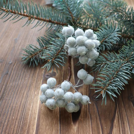 Ягоды в сахаре, Цвет Серебро, 40 шт/упак