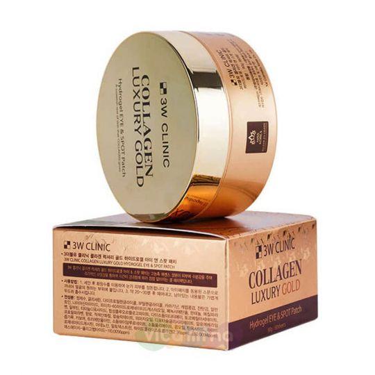 3W CLINIC Гидрогелевые патчи с коллагеном и коллоидным золотом Collagen Luxury Gold Hydrogel Eye & Spot Patch, 60 шт