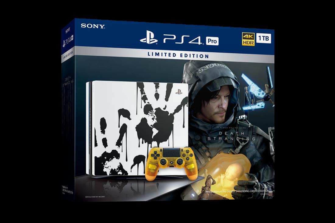 """Sony Playstation 4 PRO 1TB PS4 Черная в комплекте с игрой """"Death Stranding"""" лимитированная версия ( CUH-7208B )"""