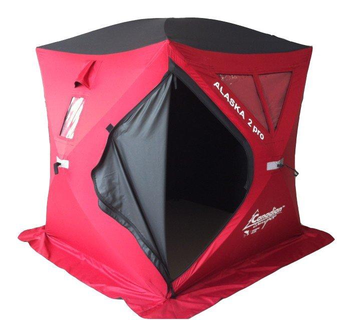 Палатка Canadian Camper для зимней рыбалки Alaska 2 Pro красная