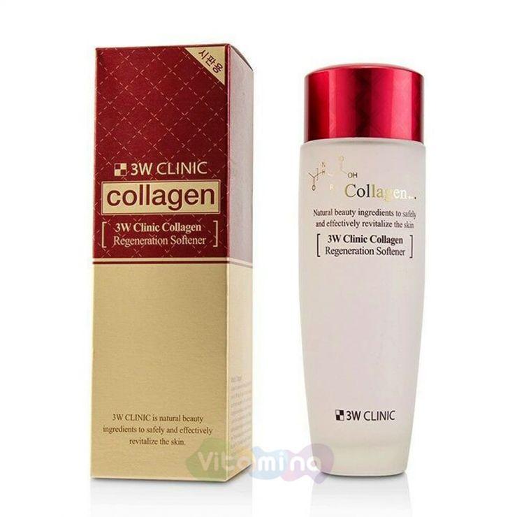 3W CLINIC Восстанавливающий софтнер с коллагеном Collagen Regeneration Softener , 150 мл