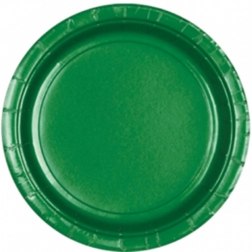 Тарелки зеленые
