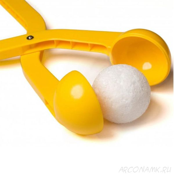 Снежколеп (диаметр снежка 5 см), Цвет: Жёлтый