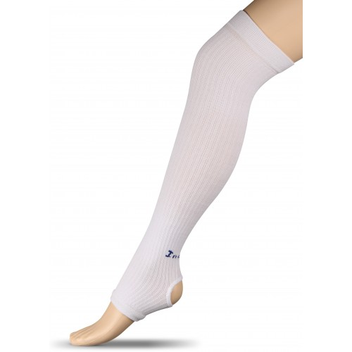 Гетры компрессионные для гимнастики и танцев (хлопок) INDIGO ЛВ3 белые