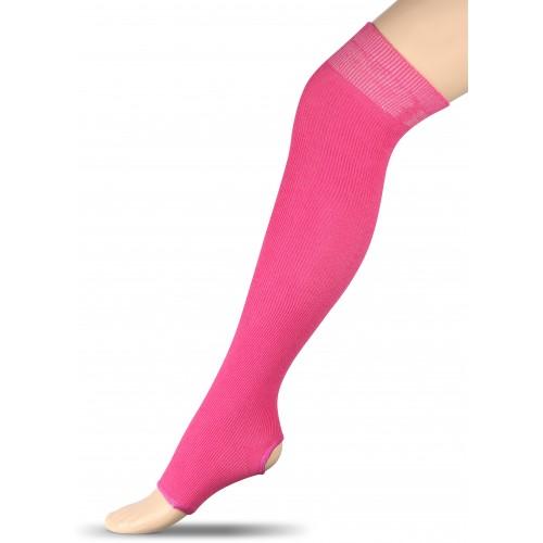 Гетры для гимнастики и танцев (хлопок) INDIGO ЛВ5 фуксия