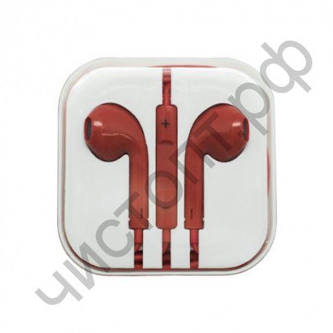 Гарнитура (науш.+микр.) для сотов. OXION HS-PI-001RD plastic box красный