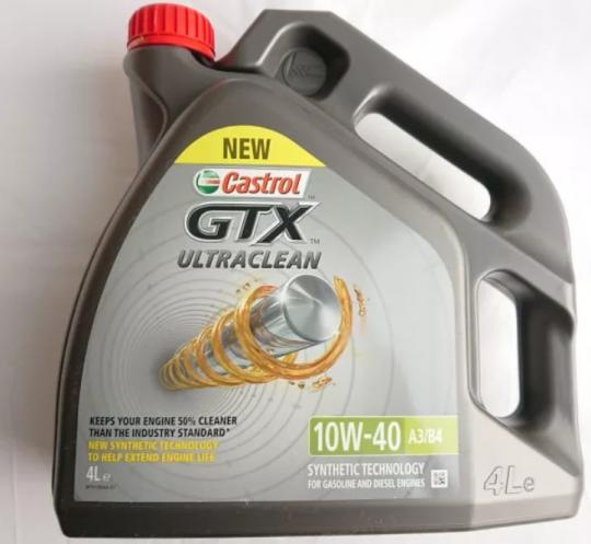 Моторное масло Castrol GTX Ultraclean 10W40 4 л