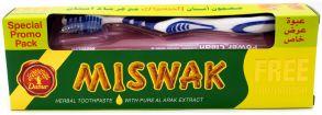 Зубная паста Dabur Miswak Herbal в комплекте с зубной щеткой 190 гр