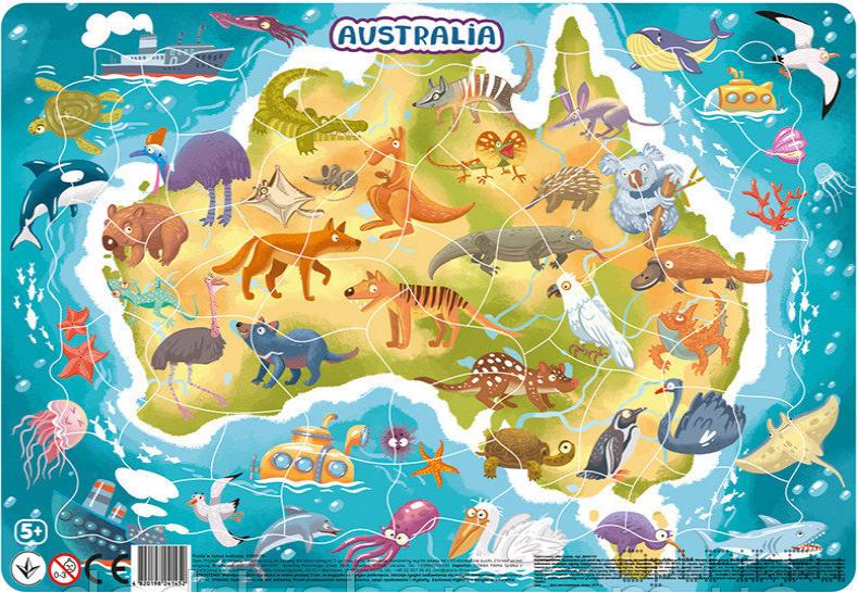 """Пазл в рамке """"Австралия"""" 53 элемента"""