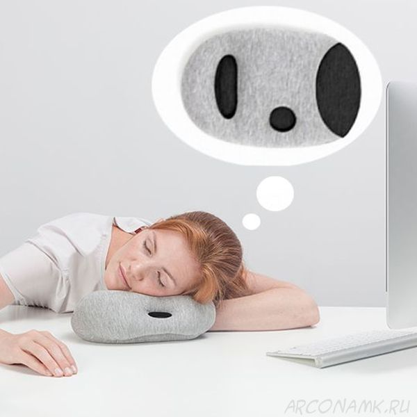 Подушка для сна на работе Napping Pillow, Серый
