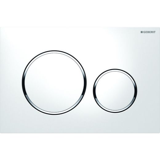 Кнопка смыва Geberit Sigma20 белый, хром