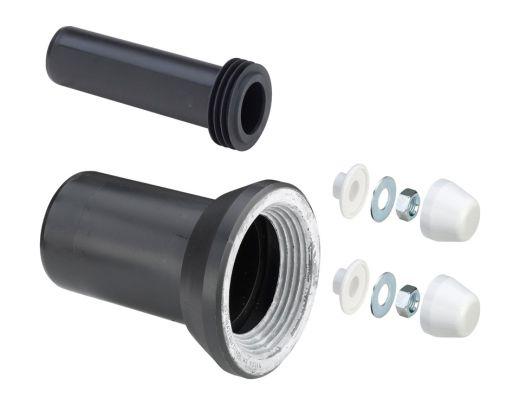 Комплект для унитаза Viega подвесного DN 90 (отвод, патрубок, колпачки)