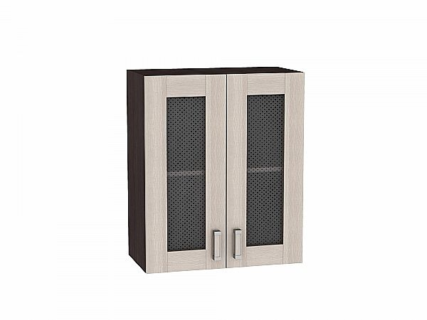 Шкаф верхний Лофт В600 со стеклом (Cappuccino Veralinga)