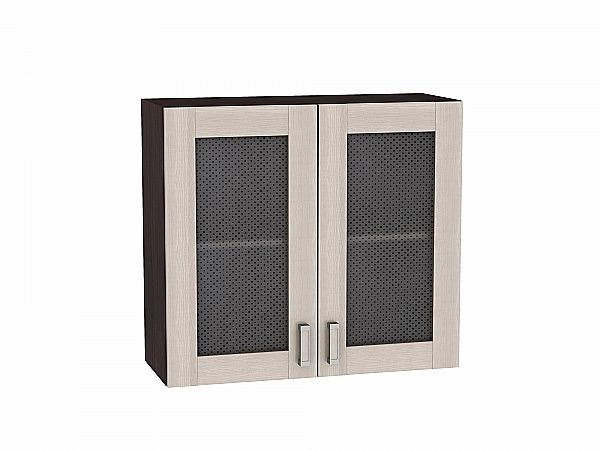 Шкаф верхний Лофт В809 со стеклом (Cappuccino Veralinga)