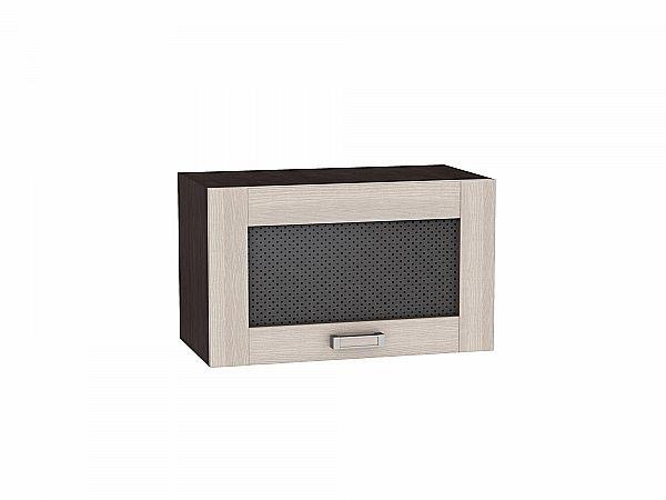 Шкаф верхний Лофт ВГ500 со стеклом (Cappuccino Veralinga)
