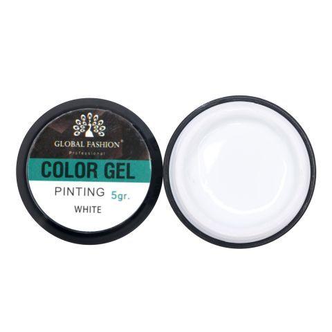 Гель краска с липким слоем Global Fashion 5 gr, white