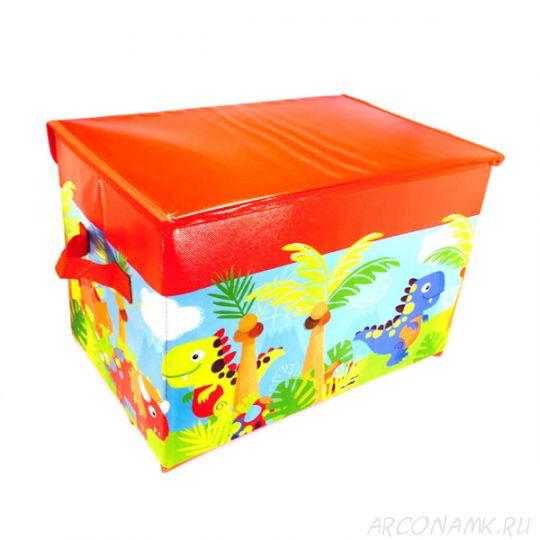 Короб для хранения игрушек, 37х25х25 см., Красный