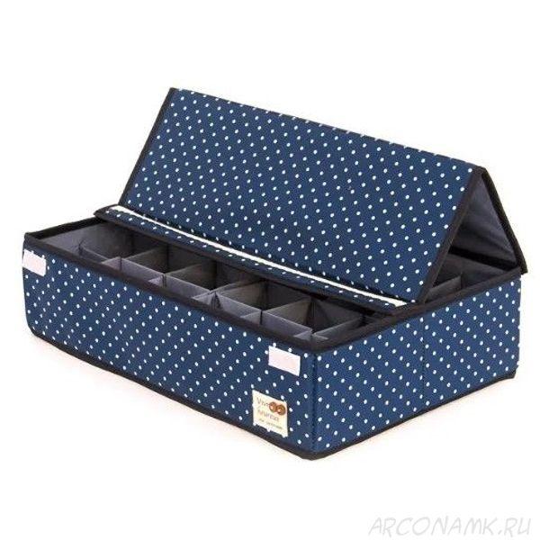 Складной кофр для хранения носков и нижнего белья, Цвет: Синий