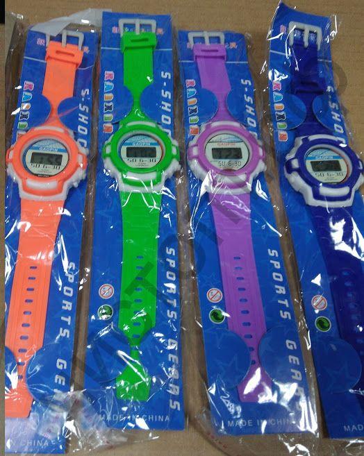 Часы наручн.электрн. WKC-101 цветные на блистере