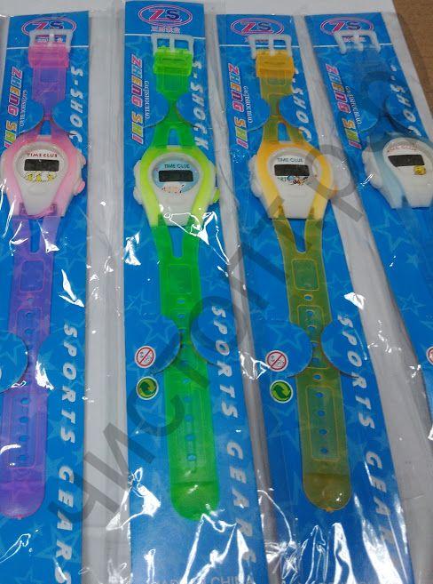 Часы наручн.электрн. детские WKK-401 цветные на блистере