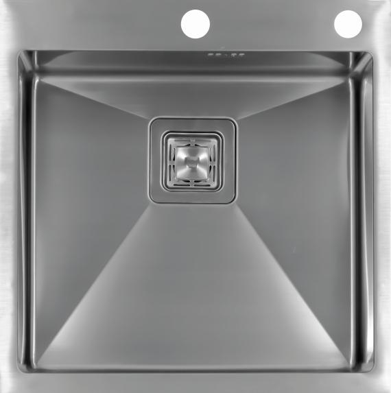 Врезная кухонная мойка Seaman ECO Marino SMB-5151SQ.B 51х51см нержавеющая сталь