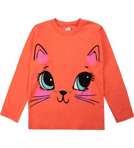 """Лонгслив для девочки Bonito kids """"Cat"""" 5-8 лет"""