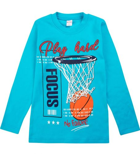 "Лонгслив для мальчика Bonito kids ""Basketball play"" 5-8 лет"
